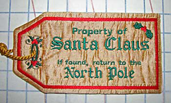 Santa Bag Property of Tag